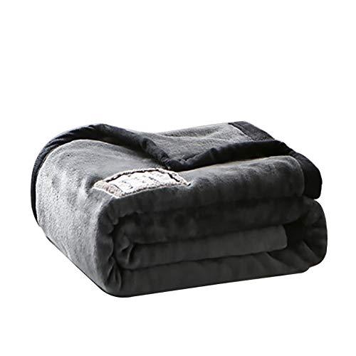 Deciduous Flauschige Gemütliche Warme Sofa-Wurfs-Decke, Bett-Sofa-Schlafzimmer-Stuhl-Dekorative Einzelteile Für Haus, Personalisierte Baby-Decke 100 * 150Cm,Grau (Dekoratives Wurfs-decke Für Sofa)