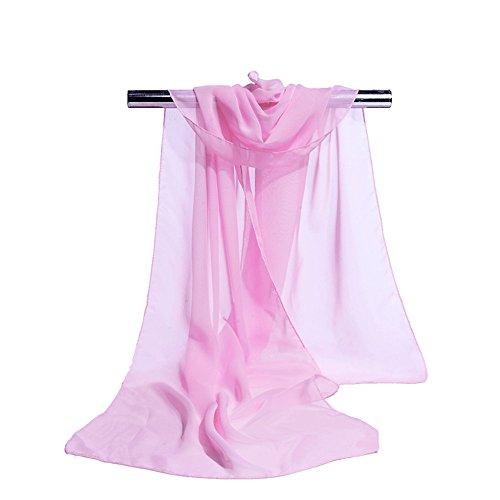S.Self-My Im Frühjahr Und Im Herbst) Monochrom Schnee Gewebt Langer Abschnitt Der Koreanischen Version Von Kunst Und Kulturellen Wandel Pink Schals