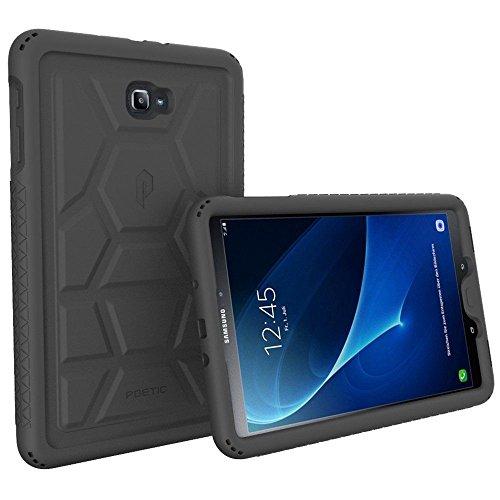 Poetic TurtleSkin Heavy Duty Protección Silicona Funda con Amplificación de Sonido Función para Samsung Galaxy Tab A 10.1 (2016) Negro [NO COMPATIBLE CON EL MODELO S-PEN.]