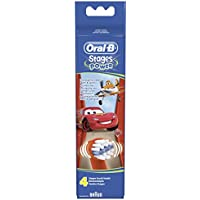 Braun Oral-B Stages Power Kids Aufsteckbürsten CARS 4er Pack Bürstenköpfe Kinder EB10-4K