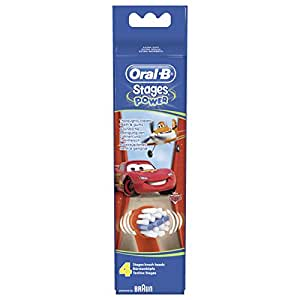 Braun Oral-B Stages Power Kids Aufsteckbürsten CARS 4er Pack Bürstenköpfe Kinder EB10-4K