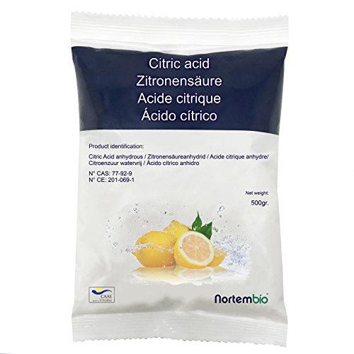 68e188db0bd Acide Citrique NortemBio 500 g. Qualité Premium