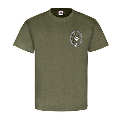 Gebirgsjäger allgemein GebJg Edelweiß Gams Wappen Abzeichen Emblem - T Shirt Herren oliv #18520