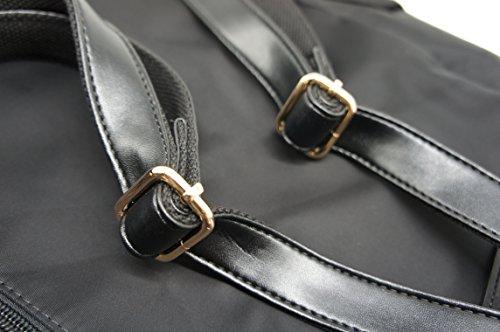 Artone Da Donna Resistente All'Acqua Nylon Classic Daypack Coulisse Zaino With Didietro Antifurto Pocket Nero Nero