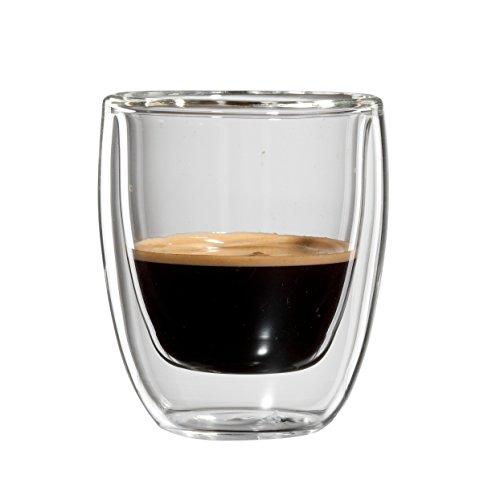 Bloomix C-111-080-G Roma Espresso doppelwandiges Thermo-Kaffeeglas 2-er Set