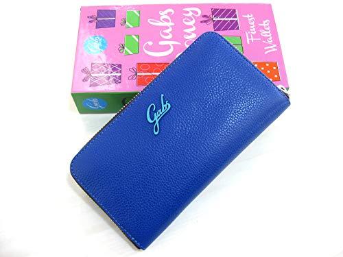 portafoglio gabs gmoney17 in pelle ruga cbalto blu cm 19x10x2