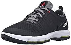 Reebok Mens Cloudride Dmx Walking Shoe, Black/Alloy/Riot Red/White, 6. 5 M US