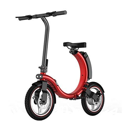 Hold E-Bikes Elektroroller - Tragbarer Klapproller - Leichtes elektrisches Aluminium-Faltrad@rot