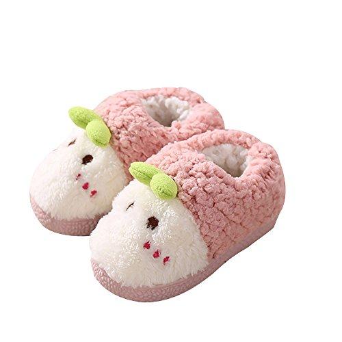 Kinder Winter Plüsch Hausschuhe, Pingenaneer Weiche Plüschschuhe Wärme Baumwolle Pantoffeln Innenraum Anti-Rutsch Wärme Hausschuhe zum Mädchen Junge Niedlich Slipper