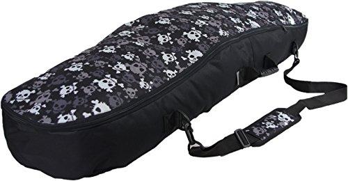 Witan SNOWBOARDTASCHE Board Bag Snowboard Tasche 155/165 cm Snowboardbag Boardsack Rucksack mit Tragegriff Sack (19 - Totenkopf, 155)