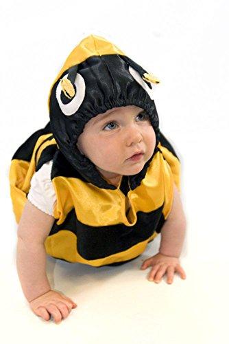 Gelb-Schwarzes Baby Kleinkinder Hummel Biene Kostüm - handgefertigt Kinder 6-24 Monate - Lucy Locket