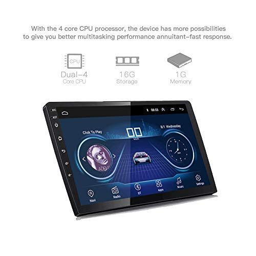 DZSF 10 Zoll Android 8.1 Universal Auto GPS Navigationsradio Android Autoradio DVD Player Navigation WiFi Bluetooth MP5 Player Hinten CAM Cookie Bluetooth