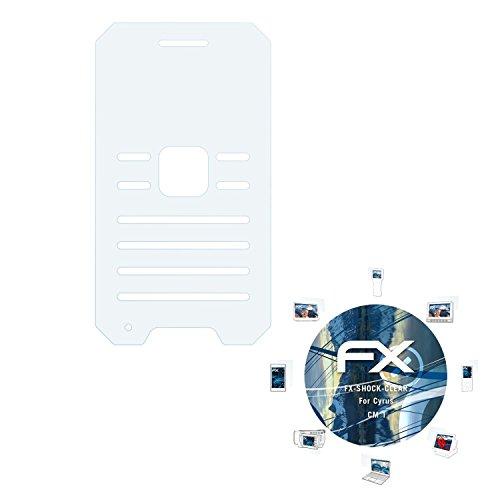 atFolix Schutzfolie kompatibel mit Cyrus cm 1 Panzerfolie, ultraklare & stoßdämpfende FX Folie (3X)