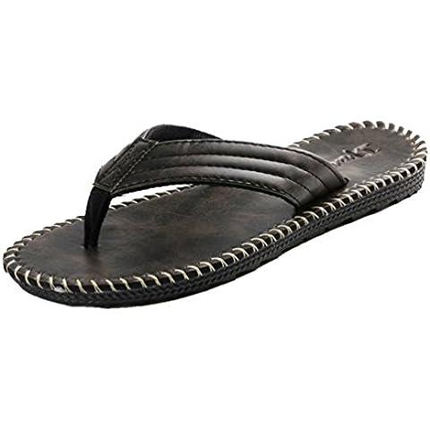 Baymate Uomo Sintetico Pelle Infradito Vacanza Casuale Sandali Pantofole