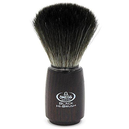 """Omega 0196712 - Pennello da barba in fibra\""""Black Hi-Brush\"""""""