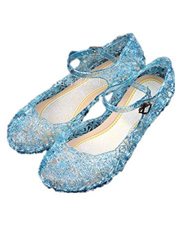 Ecollection Mädchen Cinderella Tanz - schuhe Ballerinas Schuhe MIT keilabsatz (EU26(18cm), (Cinderella Mädchen Schuhe)