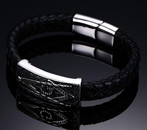 Murtoo Bijoux Hommes Gothique en 316L Acier Inoxydable Cuff Bracelet Bangle Lettre G