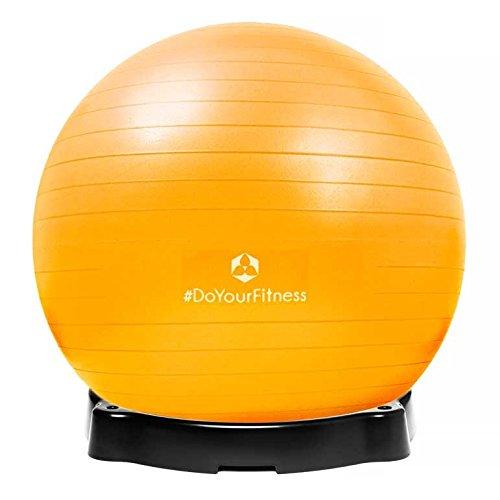 gymnastikball-orion-inklusive-ballschale-robuster-sitzball-und-fitnessball-65-cm-gelb-inklusive-sitz