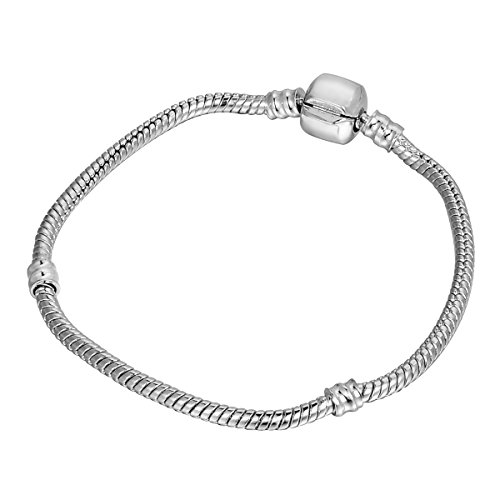 HOUSWEETY 4 Pcs Bracelet en Cuivre Chaine Maille Serpent pour Femme Homme 20CM