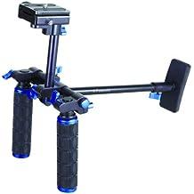 Polaroid sistema de soporte estabilizador de pecho de vídeo con empuñadura dual para cámaras DSLR y videocámaras