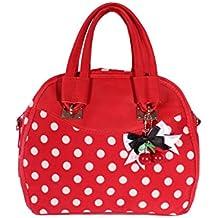 2fc54ee10983c SugarShock Damen Fifties POLKA DOTS rockabilly Cherry Bow Handtasche Tasche