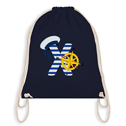 Anfangsbuchstaben - X Schifffahrt - Unisize - Navy Blau - WM110 - Angesagter Turnbeutel / Gym Bag