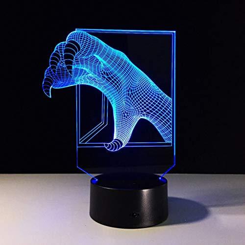 HYCy Dragon Claws 3D Licht Bunte Touch LED-Licht kreatives Geschenk Nachtlicht, personalisierte Nachtlicht (Dragon Touch-lampe)