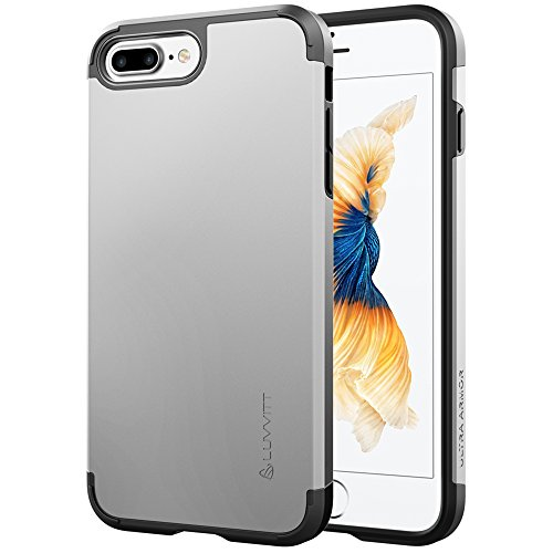 iPhone 7 Plus Fall, luvvitt [Ultra Armor], Case Best Heavy Duty Dual Layer Tough Cover für Apple iPhone 7 Plus silber