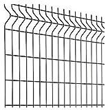 Clôture grillage rigide soudé - Kit de 25m complet avec panneaux et poteaux à sceller - Vert - Hauteur : 1225 mm