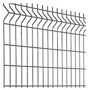 Clôture grillage rigide soudé - Kit de 50m complet avec panneaux et poteaux sur platine - Gris - Hauteur : 1025 mm