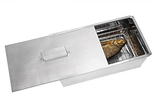 Grillpaul MUSTANG Räucherbox Premium | Smokerbox | Räucherschrank klein | Edelstahl poliert | 45 x 23 x 16cm