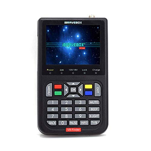 Eulan V8 HD Digital Satellite Signal Finder Meter, Digital TV Finder Meter with 3.5