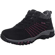 Culater Zapatillas Mujer Culater Zapatillas Mujer Las Ocio de Malla Transpirable Antideslizante Mantener Caliente Calzado Deportivo