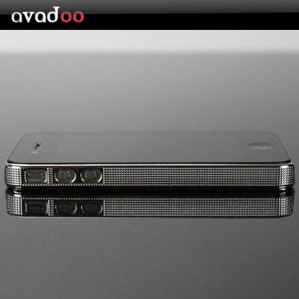 IPhone 4 case coque de protection imprimée en argent