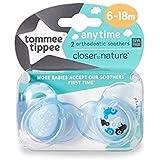 Tommee Tippee Closer to Nature cualquier tiempo chupete, 2unidades–6–18M (el diseño puede variar) azul verde turquesa