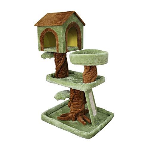 DAYUMAOJIN Pet Shop Kratzbaum, Kleintiervilla Spielzeug Katzenkratzbrett Pet Foster Care Center Katzenbedarf Katzen Klettergerüst (Farbe: Grün)