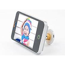 """Mirilla Digital con pantalla HD de 4"""" en color Plata"""
