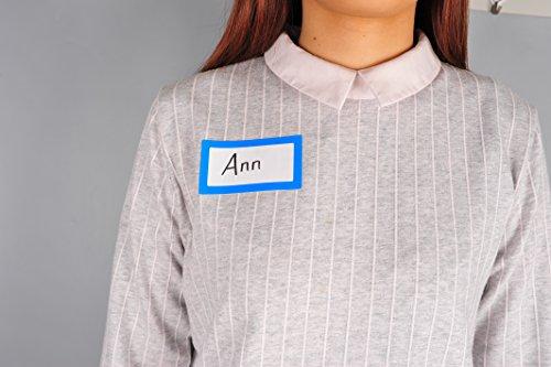 Etiquetas Adhesivas para Nombre de Colores - 2 Rollos con 500 Pegatinas en Total - 9 x 5 cm - Etiquetas para Nombre para Regalos, Frascos, Carpetas, Oficina, Fiestas de Cumpleaños y Ropa de Niños