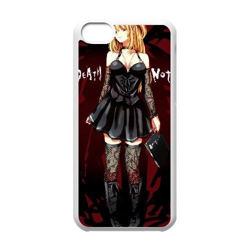 Death Note coque iPhone 5C Housse Blanc téléphone portable couverture de cas coque EBDXJKNBO11827