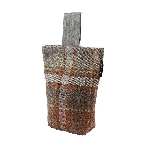 McAlister Textiles - Signature Kollektion | Heritage Türstopper im Tartan-Muster kariert in Terracotta Orange | Rustikal Schottischer Landhausstil