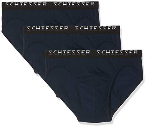 Schiesser Herren Slips, 3er Pack, Blau (Navy 815), 7 (Herstellergröße:X-Large)