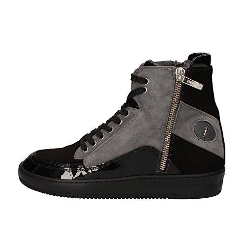 cesare-paciotti-4us-36-eu-sneakers-schwarz-wildleder-grau-lack-ag125