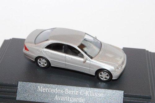Busch Mercedes-Benz C-Klasse W203 Limousine Silber 2000-2007 H0 1/87 Herpa Modell Auto