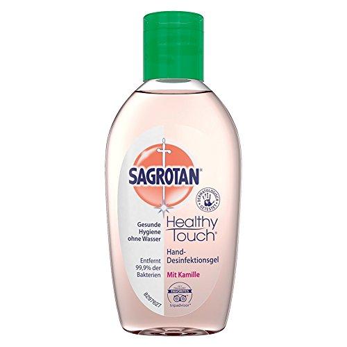 Sagrotan Hand-Desinfektionsgel Kamille und Lotus (Desinfektionsmittel für die Hände in handlicher Reisegröße, Gel im praktischen Vorteilspack) 3 x 50 ml