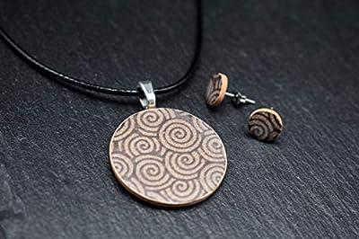 Bijoux-céramique-designer-ensemble femmes collier avec pendentif boucles d'oreilles en essence marron beige fait main bijoux-femme-fantaisie