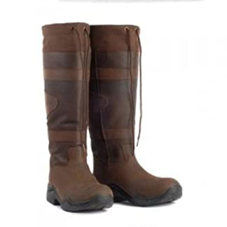Toggi Canyon Long Country Boots, Waterproof, Chocolate Brown 8