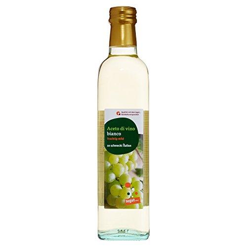 Tegut Weißweinessig'Aceto di vino bianco', 500 ml