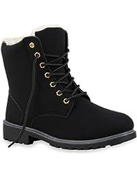 Stiefelparadies Unisex Damen Herren Stiefeletten Worker Boots Übergrößen  Warm Gefüttert Flandell bfa34fb018