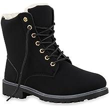 200d3e09043472 Stiefelparadies Unisex Damen Herren Stiefeletten Worker Boots Übergrößen  Warm Gefüttert Flandell