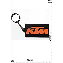 Llaveros - Keychains - KTM - black - Motocross - Motorcycle - Motorbike - Car - Key Ring - Kautschuk Rrubber Keyring - perfect also bags, wallets or briefcase - Give away